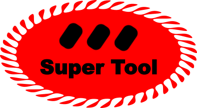 Black and white to color in photos. The logo of supertool.