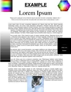 PDF with black colors